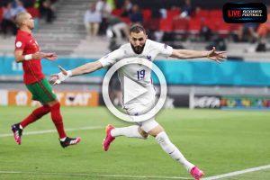 Read more about the article ไฮไลท์คู่เด็ด ฟุตบอล ยูโร 2020 (กลุ่มF) โปรตุเกส 2-2 ฝรั่งเศส  /// 24-6-2021