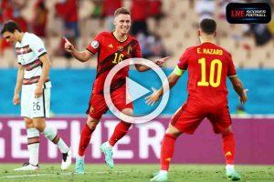 Read more about the article ไฮไลท์คู่เด็ด ฟุตบอล ยูโร 2020 (รอบ16ทีม) เบลเยียม 1-0 โปรตุเกส /// 28-6-2021